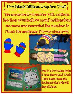gang kindergarten, winter, kindergarten math, golden gang, jan brett, easter eggs, back to school, mitten, measurement activities