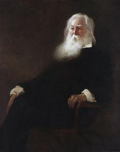 Walt Whitman John White Alexander (1856–1915) Date: 1889 Medium: Oil on canvas oil paintings, white alexand, museums, 1889, john white, artist, portrait paint, walt whitman, black white red