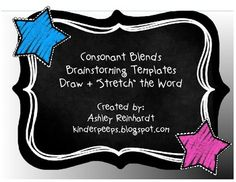 """Fun Consonant Blends Bundle - students illustrate words that start with that blend and then """"stretch"""" the word! 29 pages!"""