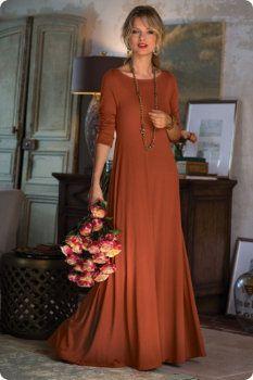 Santiago 3/4 Sleeve Dress - 3/4 Sleeve Dress, Maxi Dress, Slimming Full Length Dress | Soft Surroundings