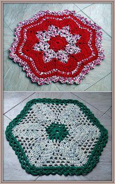 Crochet Rag Rugs.  My Rag Crochet Blog: helenacc.blogspot.com.br