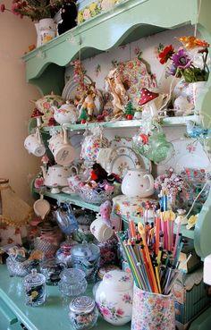 Beautiful busy dresser