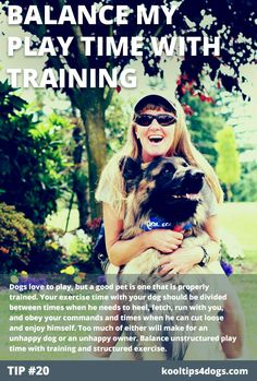 Balance your dog's playtime with training.