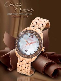 Chocolate Diamonds® and Strawberry Steel™ numbered, limited edition Swiss made timepiece (ZAF 393).