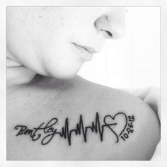 My fav tattoo I have ❤️ my sons name with his heartbeat and his bday