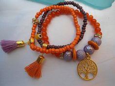 SALE TREE of LIFE bracelet Bohemian bracelet tassel by Nezihe1, $22.99
