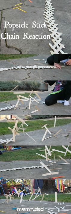 Popsicle Stick Chain Reaction