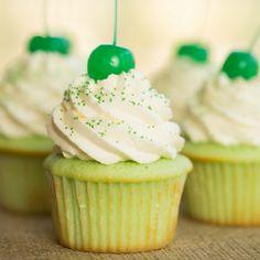 Shamrock Shake Cupcake Recipe | Brown Eyed Baker