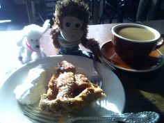 Pepe has the salted carmel-apple pie at Four and Twenty Blackbirds with Juliette. He LOVED the pie but kept asking us where the birds were because he knows that nursery  rhyme very well and believes it to be attributed to Henry VIII baking the birds into a pie for his cousin the king of France. #Pepe