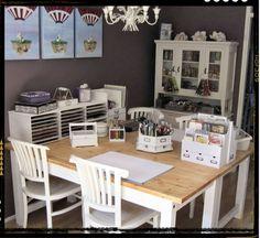 craft space, scraproom, decoration crafts, kitchen tables, craft organization, offic, scrapbook, scrap room, craft rooms