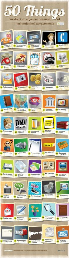 50 things we don't do anymore because of technology.