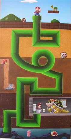 ugli truth, video game, thing mario, warp tunnel