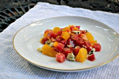 Beet Salad with Orange and Blue Cheese
