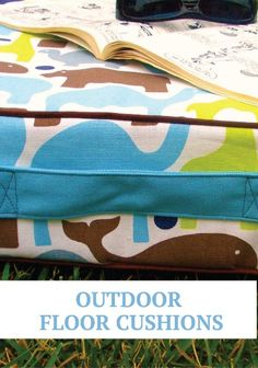 DIY Outdoor Floor Cushions are perfect for back to school homework days out in the garden.