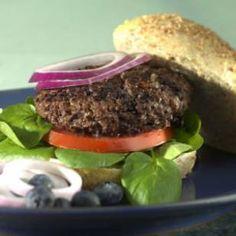 Blueberry-Beef Burgers Recipe