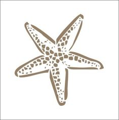 Starfish template for stencil