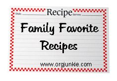 recipes with grocery lists