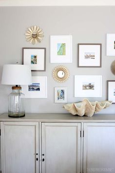 Summer Family Room Console Cabinet and Gallery Wall - The Inspired Room