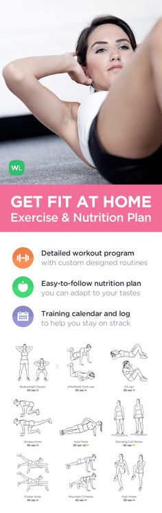 Lose 10-15 pounds with this at home workout program based on illustrated 20-minute no equipment workouts and a simple nutrition guide. Visit http://WLabs.me/getfitathome
