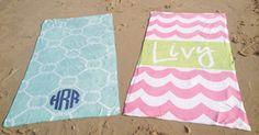 Monogrammed Beach Towels from Haymarket Designs