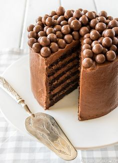 Chocolate Mousse Layer Cake by raspberry cupcakes.