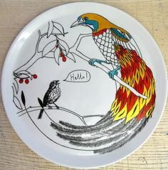I love this plate, i never want matching plates