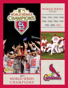 St Louis Cardinals 2011 World Series Champions