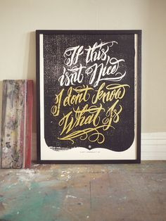 Words to Live By / Art Print - 18 x 24