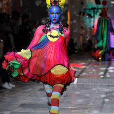 London Fashion Week. But it could be Carnaval in Rio!
