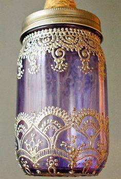 Moroccan Mason Jar Lantern ((diy-crafts-glass-recycle))