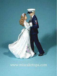 coast guard wedding topper :)!