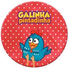 Tag Vermelho Galinha Pintadinha