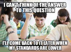 Test taking logic… Ha
