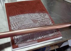 Etching Copper Pipe and Blanks with Zentangle Stamp
