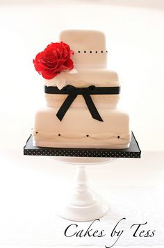 galleries, dream cake, foods, black weddings, bake projectsidea, red flowers, white weddings, white wedding cakes, parti