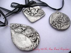Beautiful salt dough pendants - these would be beautiful on cards!