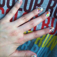 Color Run nails!! :)