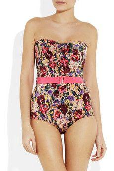 zimmermann retro floral swimsuit