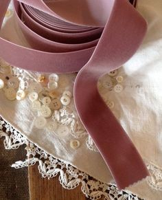 lush dusty mauve velvet ribbon by ShyMyrtle