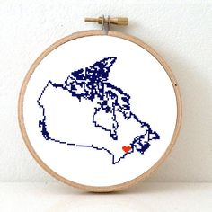 Canada map Cross stitch pattern