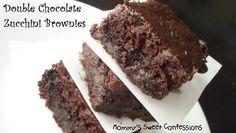 MOMMY'S SWEET CONFESSIONS: Double Chocolate Zucchini Brownies