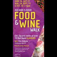 This summer in Red Bank, NJ! Food & Wine Walks start June 16th!!! #fathersday #redbank #rbflavour #wine #sample #taste #community #nj
