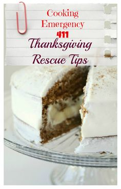Thanksgiving Rescue Tips {Cooking Emergency 411}