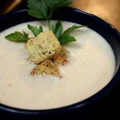 Low Carb Cauliflower Leek Soup