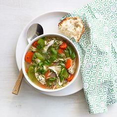 Lemony Chicken and Orzo Soup #myplate #protein #vegetables #grains