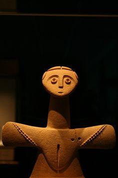 Etruscan Fertility Goddess by jparakilas, via Flickr - looks like the figures from Japan...