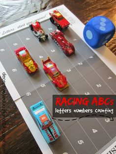 Relentlessly Fun, Deceptively Educational: Racing ABCs Game (free printable game board)