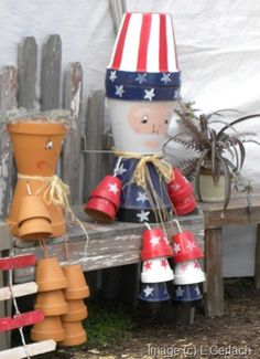 how to make flower pot people - Google Search