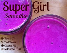 Kid-friendly Probiotics: Super Girl Smoothie | TheSweetPlantain.com