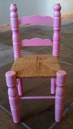 Miniature Ladder Back Chair / Doll or Bear Chair / by Lauralous, $15.00